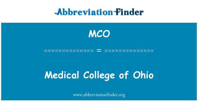 MCO: 医学大学俄亥俄州
