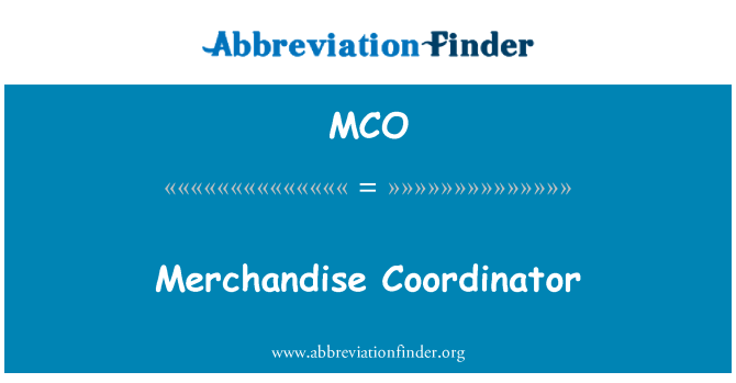 MCO: 商品协调员