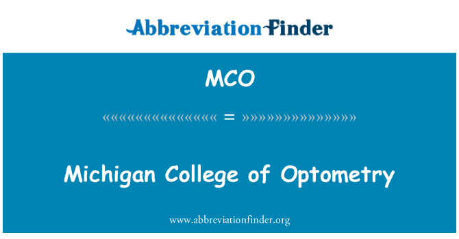 MCO: Michigan College of Optometry