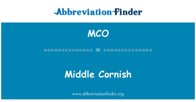 MCO: Middle Cornish