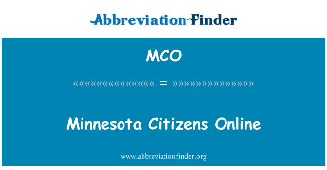 MCO: 明尼苏达州公民在线