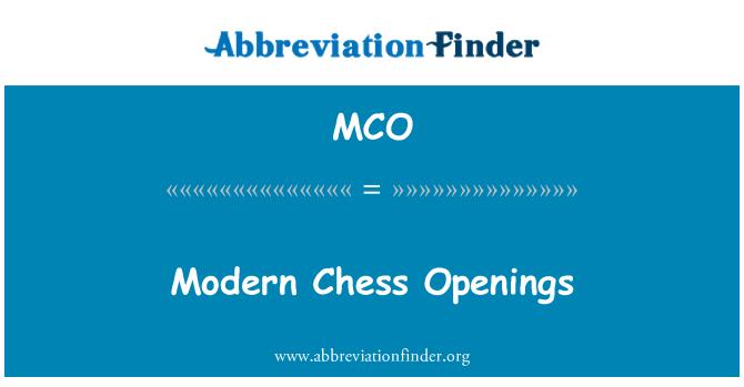 MCO: 现代国际象棋开口