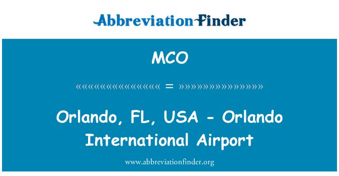 MCO: 奥兰多,佛罗里达州,美国-奥兰多国际机场