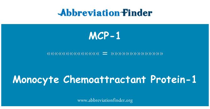 MCP-1: Monocyte Chemoattractant baltymo-1