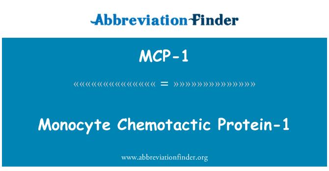 MCP-1: Proteína 1 quimiotáctica monocito