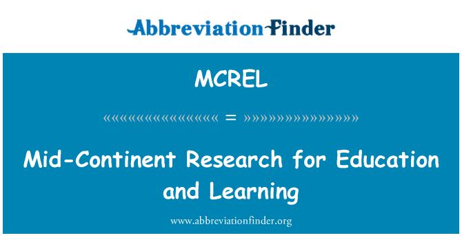 MCREL: Orta kıta araştırma eğitim ve öğrenme