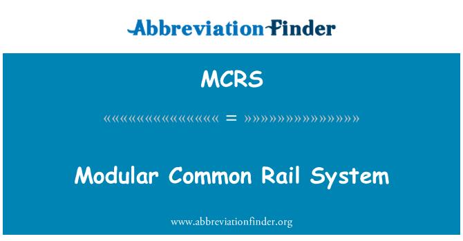 MCRS: Modular sistem kereta api yang sama