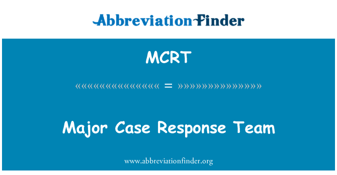 MCRT: Major Case Response Team