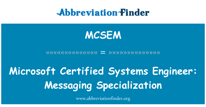 MCSEM: Microsoft Certified Systems Engineer: Messaging Specialization