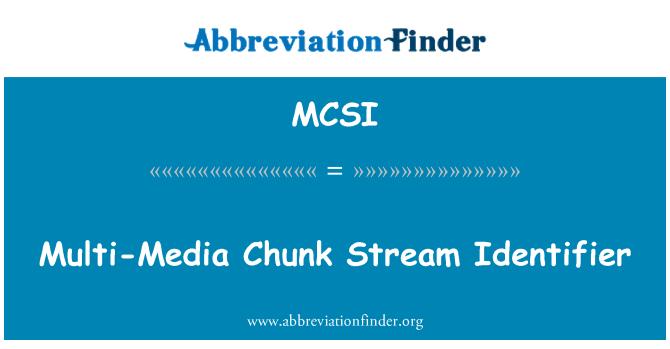 MCSI: Multi-Media patakas oja identifikaator