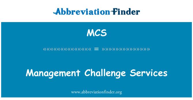 MCS: Management Challenge Services