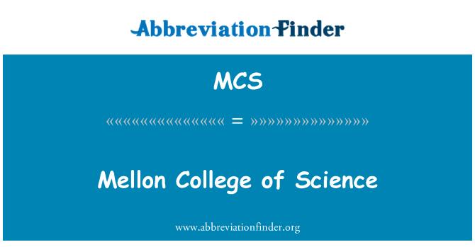 MCS: Mellon College of Science