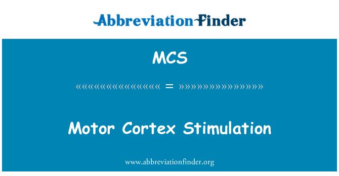 MCS: Motor Cortex Stimulation