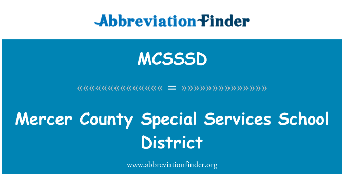 MCSSSD: Mercer County Special Services School District
