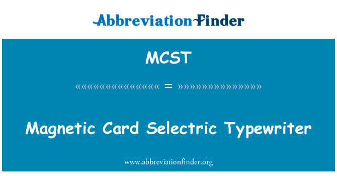 MCST: Magnetic Card Selectric Typewriter