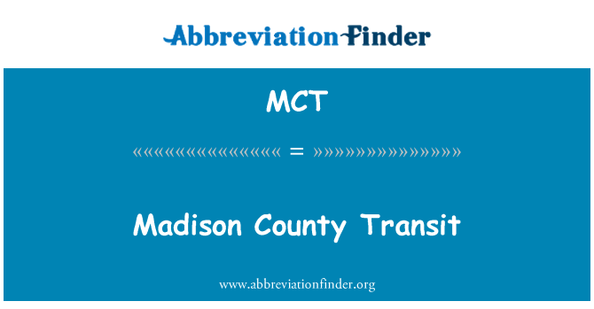 MCT: Madison County Transit