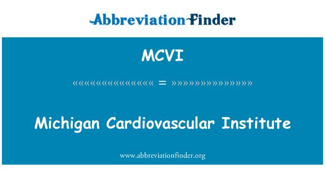 MCVI: Michigan Cardiovascular Institute