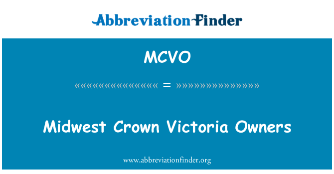 MCVO: Midwest Crown Victoria Owners