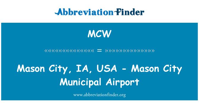 MCW: 梅森城,IA,美国-梅森市市政机场