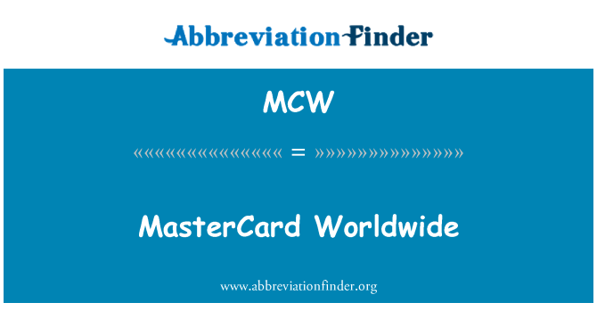 MCW: 万事达卡全球