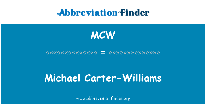 MCW: Michael Carter-Williams