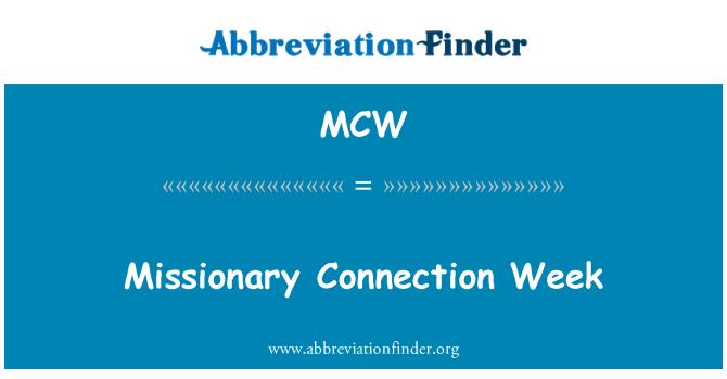 MCW: 传教士连接周