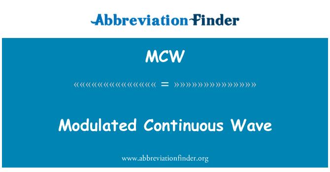 MCW: Onde continue modulée