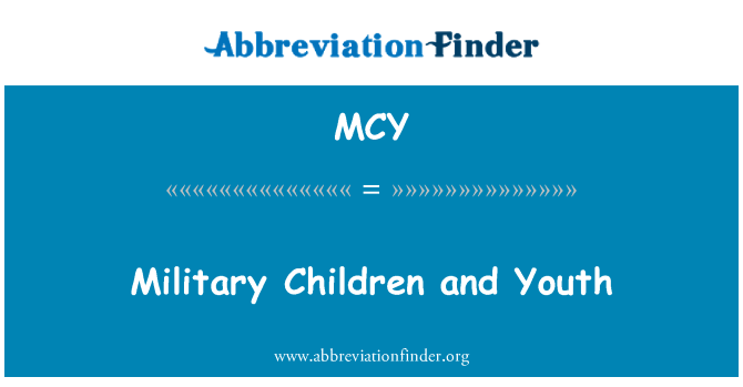 MCY: Military Children and Youth