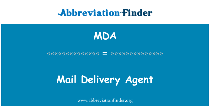 MDA: Mail Delivery Agent