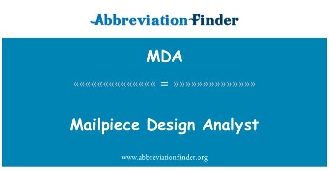 MDA: Mailpiece Design Analyst