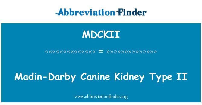 MDCKII: Canino Madin-Darby renal tipo II