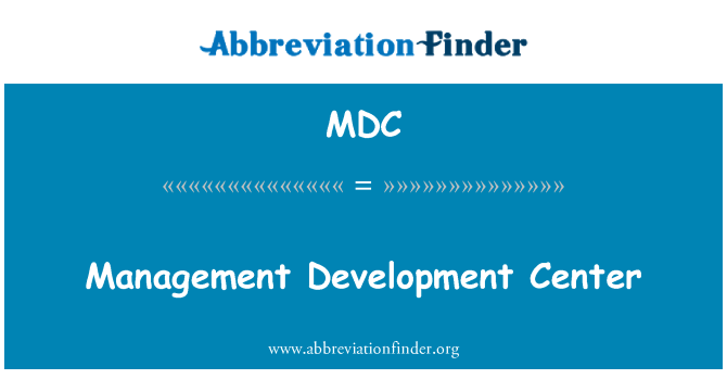 MDC: Management Development Center