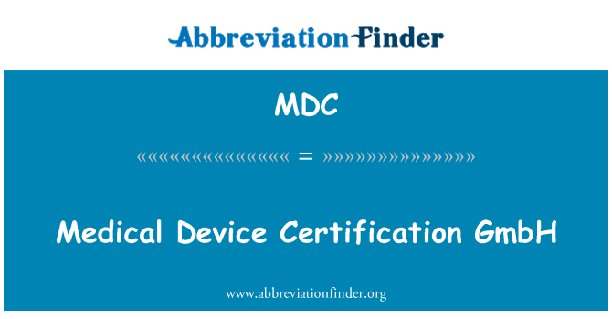 MDC: Medical Device Certification GmbH