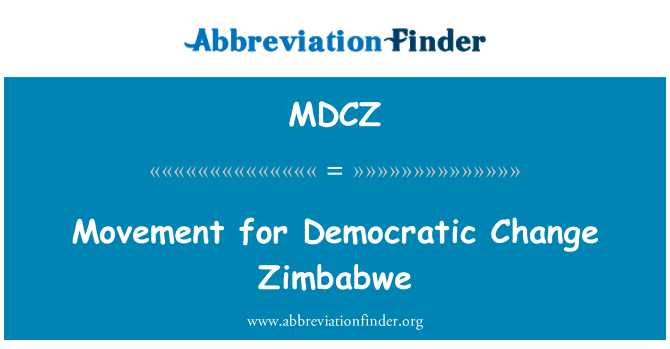 MDCZ: Movimiento para el cambio democrático de Zimbabue
