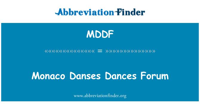 MDDF: Monaco Danses Dances Forum