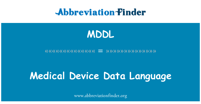 MDDL: Lenguaje de datos de dispositivos médicos