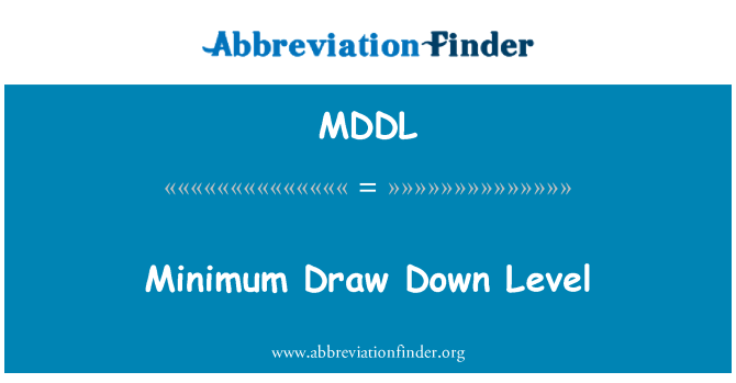 MDDL: Sorteo mínimo nivel