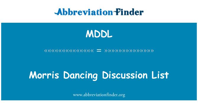 MDDL: Lista de discusión de baile Morris