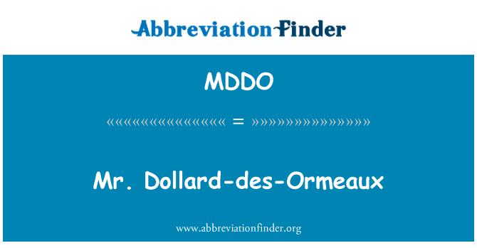 MDDO: Mr. Dollard-des-Ormeaux