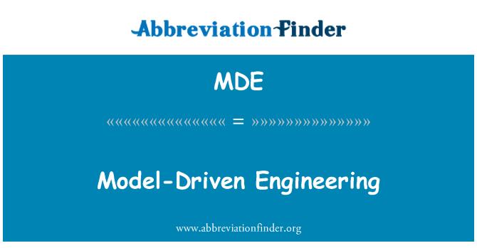 MDE: Model-Driven Engineering