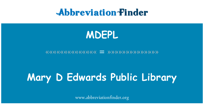 MDEPL: Mary D Edwards Public Library
