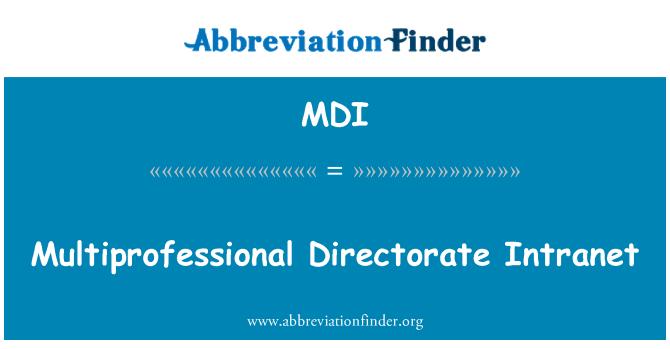 MDI: Multiprofessional Directorate Intranet