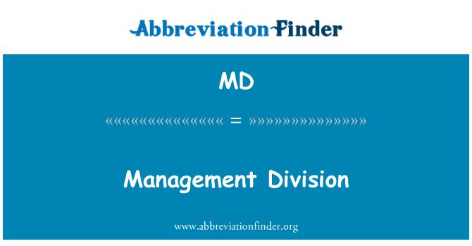 MD: Management Division