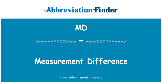 MD: Measurement Difference
