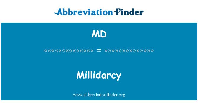 MD: Millidarcy