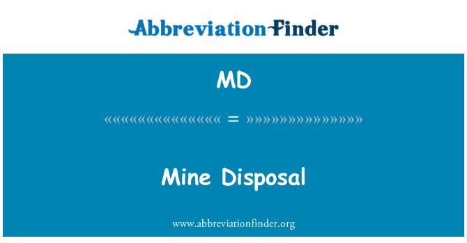 MD: Mine Disposal