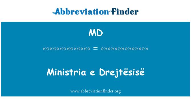 MD: Ministria e Drejtësisë