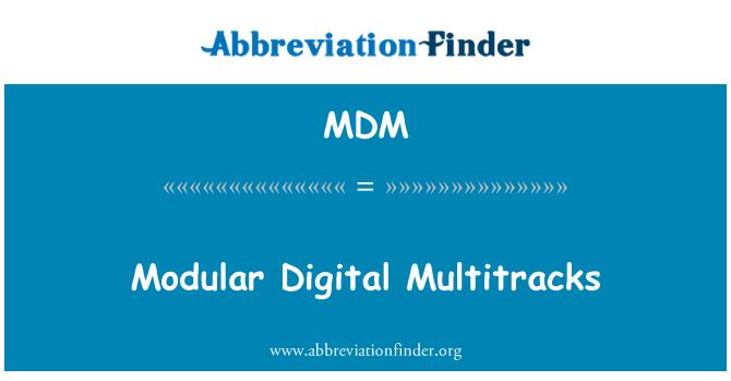 MDM: Modular Digital Multitracks