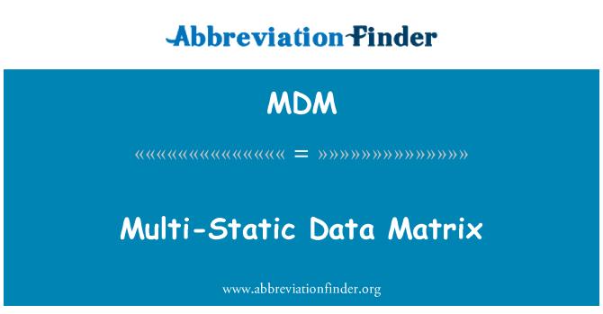 MDM: Multi-Static Data Matrix