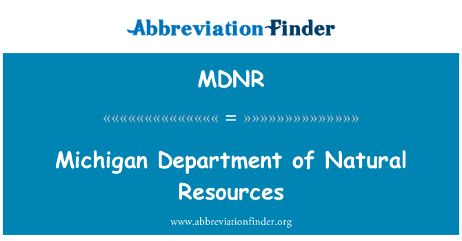 MDNR: Michigan Department of Natural Resources
